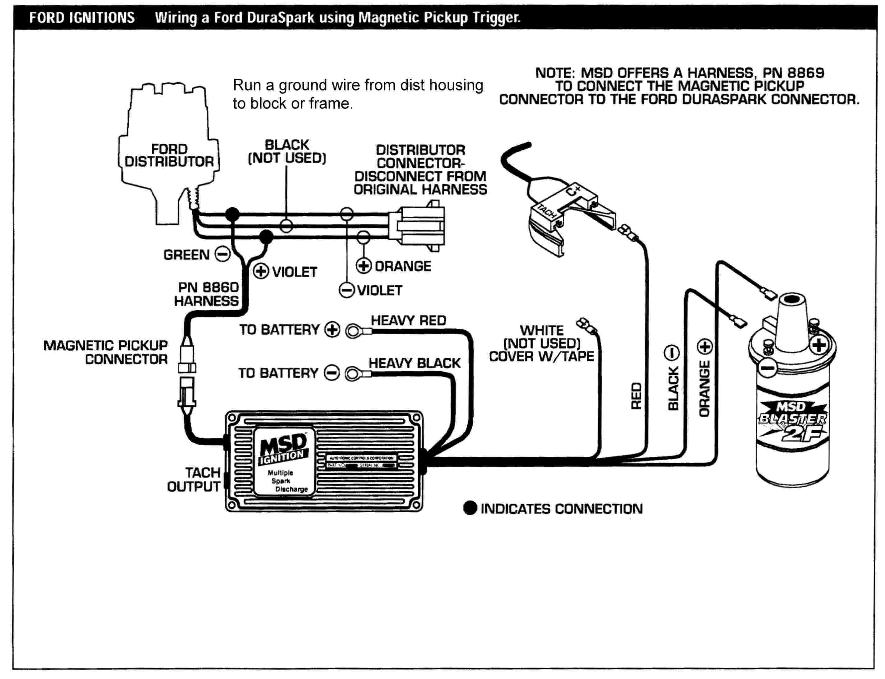 Ford Duraspark MSD schematic automotive component engineering accel super coil wiring diagram at mifinder.co